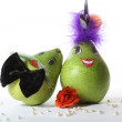 Mrs. and Mr. a Pear — Stock Photo