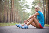 Relax after the long run — Stock Photo