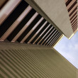 Stock Photo: High building full of stripes in urba