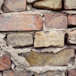 Dirty constructed brick wall — Foto Stock