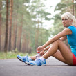 Relax after the long run - Stock Photo