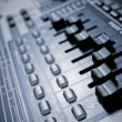 efx knobs of a drum machine — Stock Photo