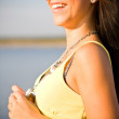 Smiling beauty at the beach — Stock Photo #2494290