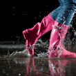 Thrill of a puddle jump — Stock Photo #2494309
