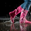 Thrill of puddle jump — Stock Photo #2494309