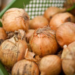 Stock Photo: Onion at a farmer market