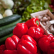 Fresh vegetables at the market — Stock Photo