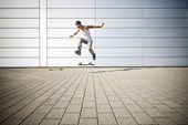 Skater making a flip — Foto Stock