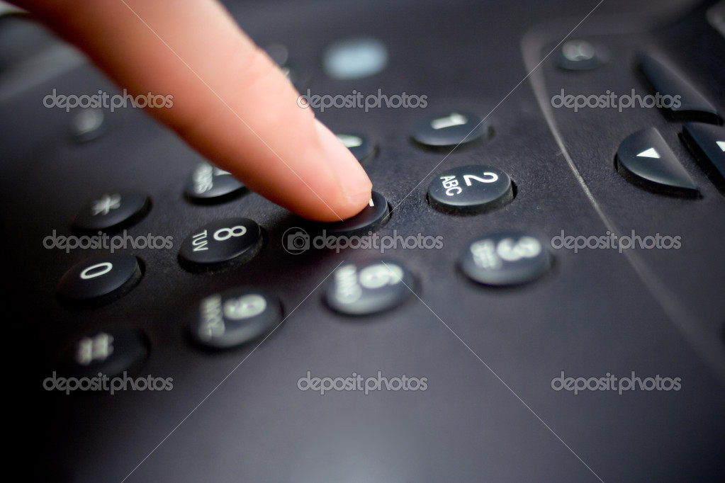 Closeup shot of a telephone keypad — Stock Photo #2492575