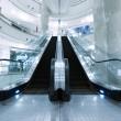 Escalator in department store — Stock Photo