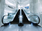 Escalator in department store — Foto Stock