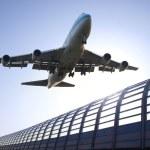 Airplane take off — Stock Photo