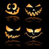 Funny, Spooky Grin — Stock Vector