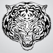 Tiger Head Tattoo — Stock Vector