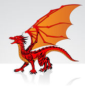 Fantasy Red Dragon — Stock Vector