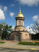 Orthodox chapel in St.Petersburg — Stock Photo
