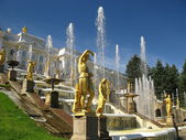 Fountain in St.Petersburg (Russia) — Stock Photo