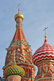 Domes of Pokrovski cathedral. — Stock Photo