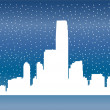 City skyline vector - Stock Vector