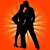 Dancing couple vector — Stock Vector