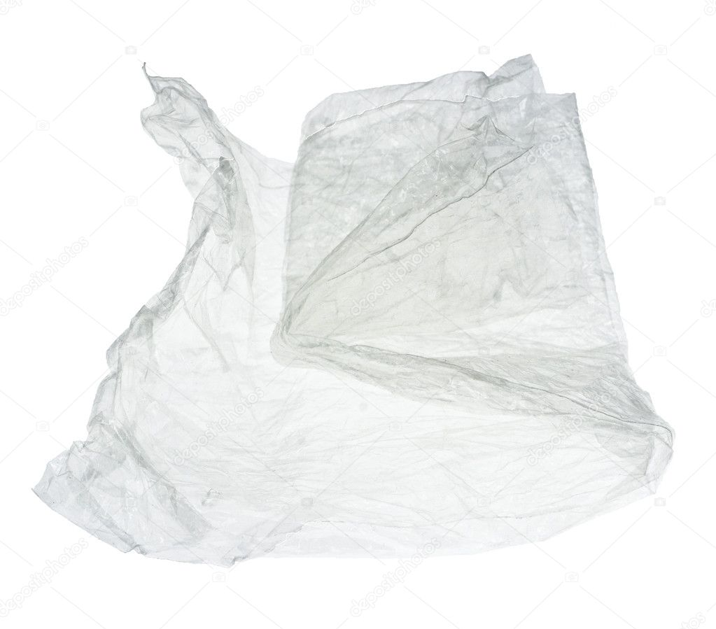 Crumpled cellophane isolated on white — Stock Photo #2493667