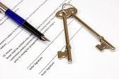 Contratto immobiliare — Foto Stock