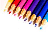 Diagonal Of Colored Pencils — Stock Photo