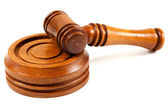 Wooden Hammer and Gavel — Stock Photo