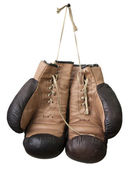 Old boxing gloves — Stock Photo