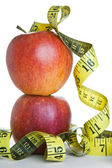Apples and Tape Measure — Stock Photo