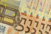 Bunch euros notes — Stock Photo