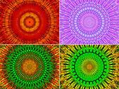 Vackra abstrakt fraktal blommor — Stockfoto