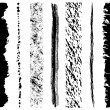 Set of grunge ink brush strokes — Stock Vector #2497845