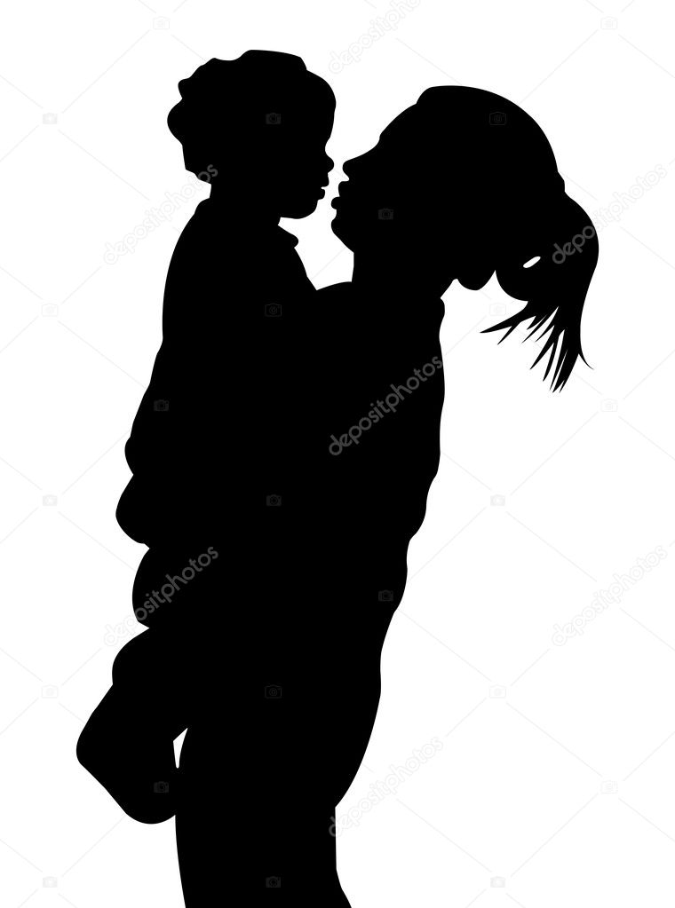 A mother holding her child. EPS file available.  Stock Vector #2497323