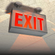 Exit sign — Stock Photo #2522554