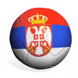 Soccer ball Serbia — Stock Photo
