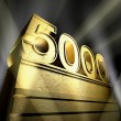 Number 5000 — Stock Photo