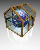 Greenhouse effect — Stock Photo