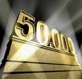Number 50.000 — Stock Photo