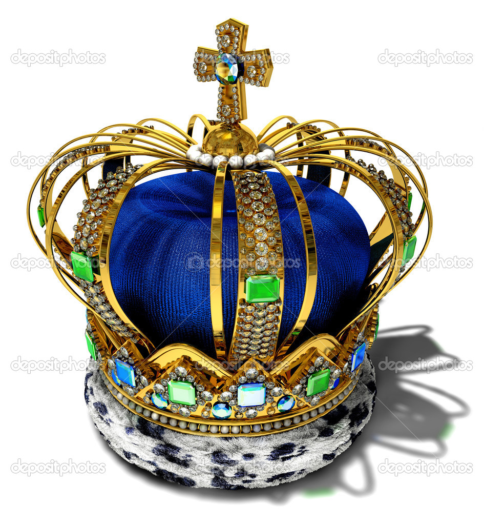 Crown with jewellery decoration  Stock Photo #2545589
