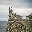 Pretty castle on a rocky hill — Stock Photo