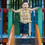 Boy ready to slide slide — Stock Photo #2495121