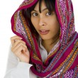 Woman with scarf over her head — Stock Photo #2495514