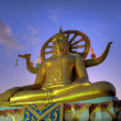 Big buddha on samui island at sunset — Stock Photo