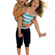Young naughty sisters having fun — Stock Photo #2499686