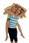 Naughty sisters having fun — Stock Photo