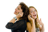 Mother and daughter on the phone — Stock fotografie