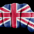 Fist with british flag — Stock Photo