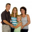 Happy family in studio — Stock Photo