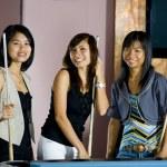 Women next to pool table — Stock Photo #2540600